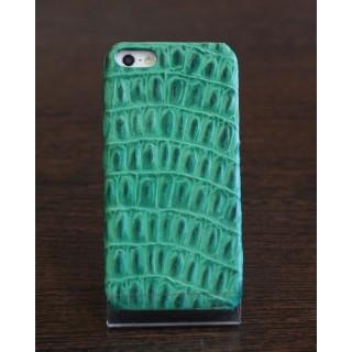 Чехол из натуральной кожи крокодила на iPhone 5/5s (зеленый), , 3200,00 р., Чехол из натуральной кожи крокодила на iPhone 5/5s (зеленый), Че, , Чехлы для iPhone 5/5s