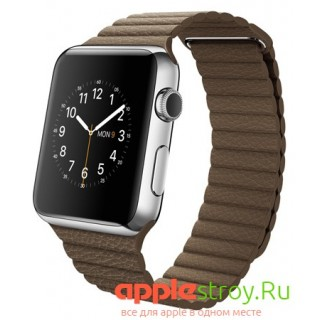 Watch 42 mm Bright blue leather loop, , 89990,00 р., Watch 42 mm Bright blue leather loop, Apple, Часы