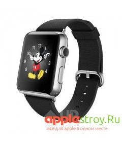 Watch 42 mm Black classic buckle