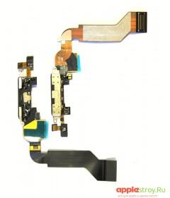 Шлейф системного разъема+ микрофон (белый) для iPhone 4S