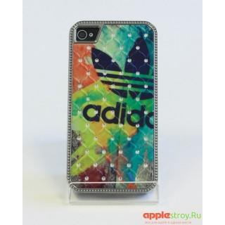 Чехол со стразами на iPhone 4/4s (adidas), 1544, 900,00 р., Чехол со стразами на iPhone 4/4s (adidas), Чехлы для iPhone 4/4s, , Чехлы для iPhone 4/4s