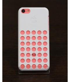Чехол на iPhone 5C с дырками (белый)