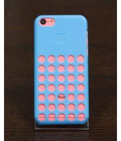 Чехол на iPhone 5C с дырками (синий)