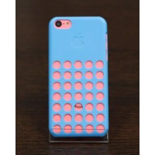 Original Case Чехол на iPhone 5C с дырками (синий)