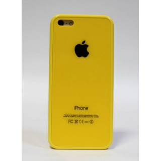 Original Case Чехол на iPhone 5C Apple Logo (желтый)