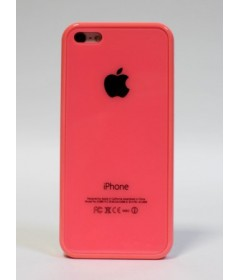 Чехол на iPhone 5C Apple Logo (розовый)