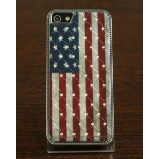 Чехол со стразами на iPhone 5/5s (American flag), 1471, 900,00 р., Чехол со стразами на iPhone 5/5s (American flag), Чехлы для iPho, , Чехлы для iPhone 5/5s