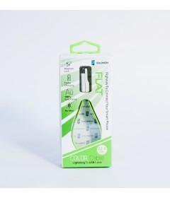 Кабель Solomon 22.5см  для iPhone 5 (зеленый)