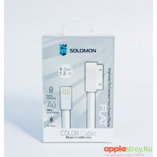 Кабель для iPhone 4 Solomon (белый, 1.2m)