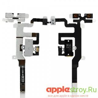 Аудио разъем+ кнопки громкости+кнопка вибро iPhone 4S (белый), , 250,00 р., Аудио разъем+ кнопки громкости+кнопка вибро iPhone 4S (белый), i, , iPhone 4s
