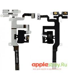 Аудио разъем+ кнопки громкости+кнопка вибро iPhone 4S (черный)