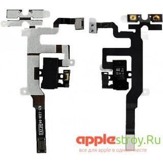 Аудио разъем+ кнопки громкости+кнопка вибро iPhone 4S (черный), , 250,00 р., Аудио разъем+ кнопки громкости+кнопка вибро iPhone 4S (черный), , , iPhone 4s